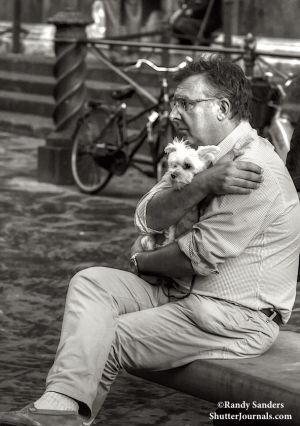 Man and his little dog