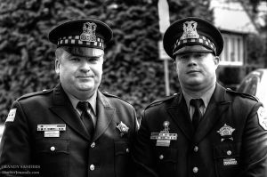 Two Chicago police officers travel to Portland to attend the funeral of one of their own