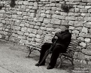 Alone with his thoughts; Erice, Sicily