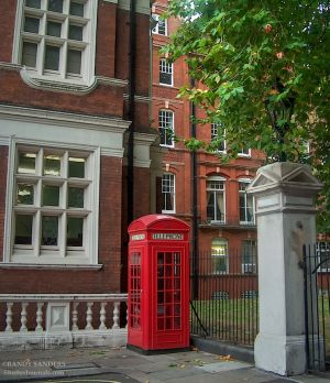 Traditional English phone booth