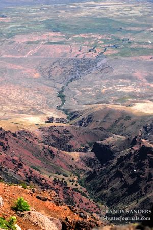 View of the Kiger Gorge from summit of the Steens Mountain