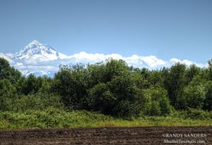 Mt Hood from Sauvie Island