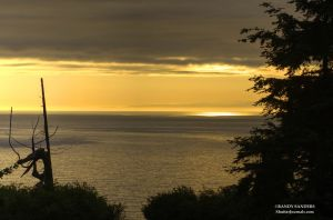 Sunset on the Strait of Juan de Fuca